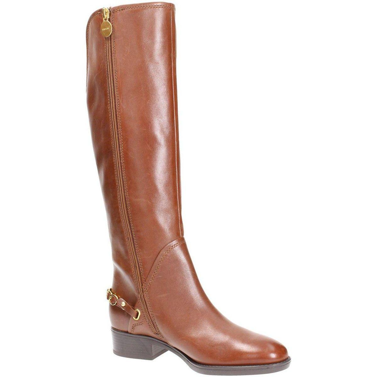 botte ville geox d44g1d00043c6777 botte femme cuir marrone | ma