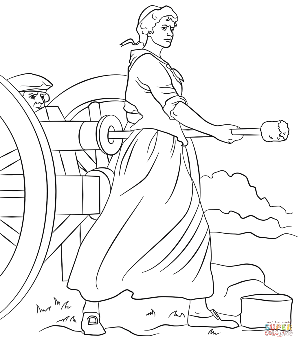 American Revolution Printable Coloring Pages Molly Pitcher Coloring Pages Free Printable Coloring Pages