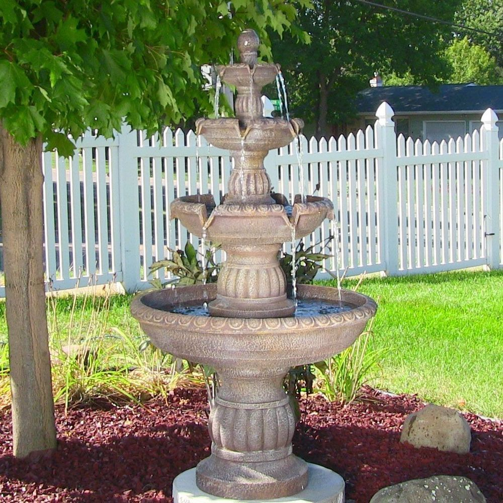 Water Fountain Garden: Details About Water Fountain Outdoor W/ LED Lights Pump