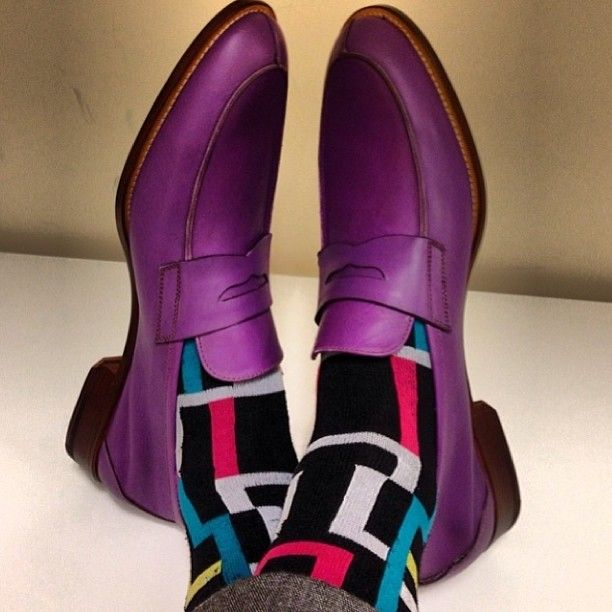 Purple loafers x Colors socks @dapperlydone #luxury #luxuryshoes #loafer #sock #purple #men #mensstyle #mensfashion #mensaccessories #style #styling #stylish #fashion #fashionable