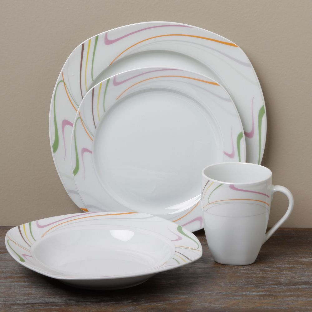 Tabletop Unlimited \'Sicily\' 16-piece Dinnerware Set | Overstock.com ...