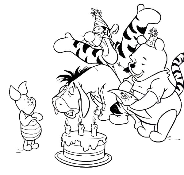 Piglet Birthday Surprise Party Coloring Pages Best Place To Color Birthday Coloring Pages Piglet Birthday Birthday Surprise Party