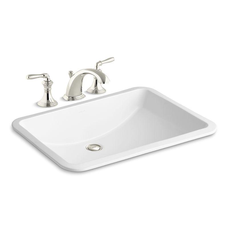 "Kohler K-394-4/K-2214 Ladena 18-3/8"" Undermount Bathroom Sink with Overflow and"
