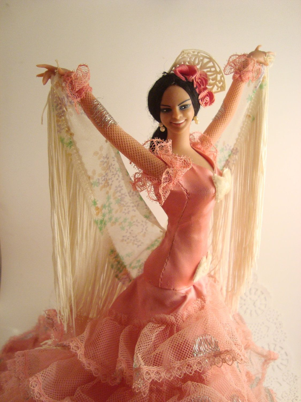 Spanish Dancer Vintage Senorita Collectible Spanish Doll #spanishdolls