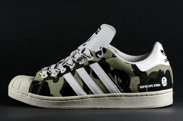 super ape star | Camo shoes, Adidas camo shoes, Snicker shoes
