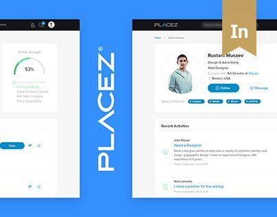 """다음 @Behance 프로젝트 확인: """"Placez - Job Search Portal"""" https://www.behance.net/gallery/40214443/Placez-Job-Search-Portal"""