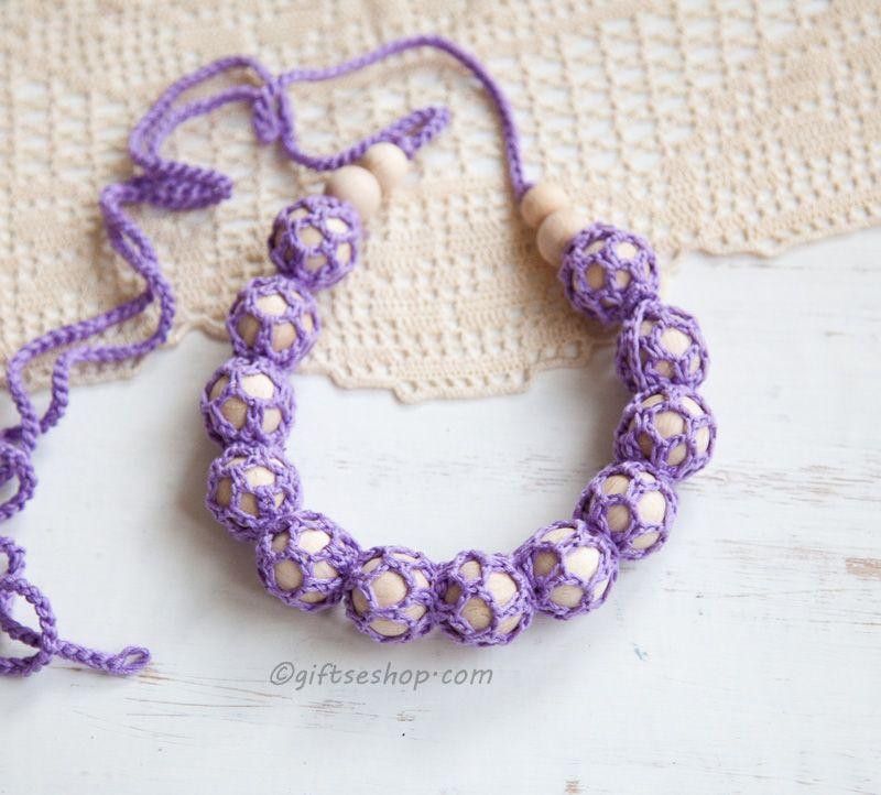 Crochet Nursing Teething Necklace DIY tutorial | *** Beautiful FREE ...