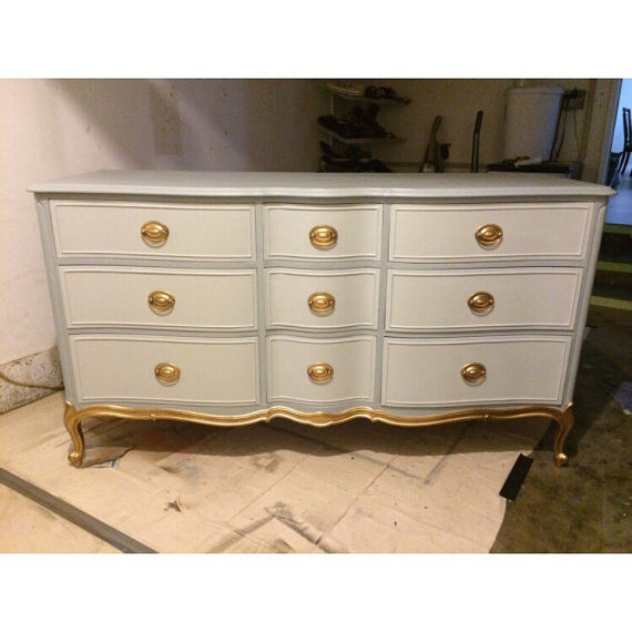French Provincial Custom Dresser, Credenza, Buffet, Nursery Changing ...