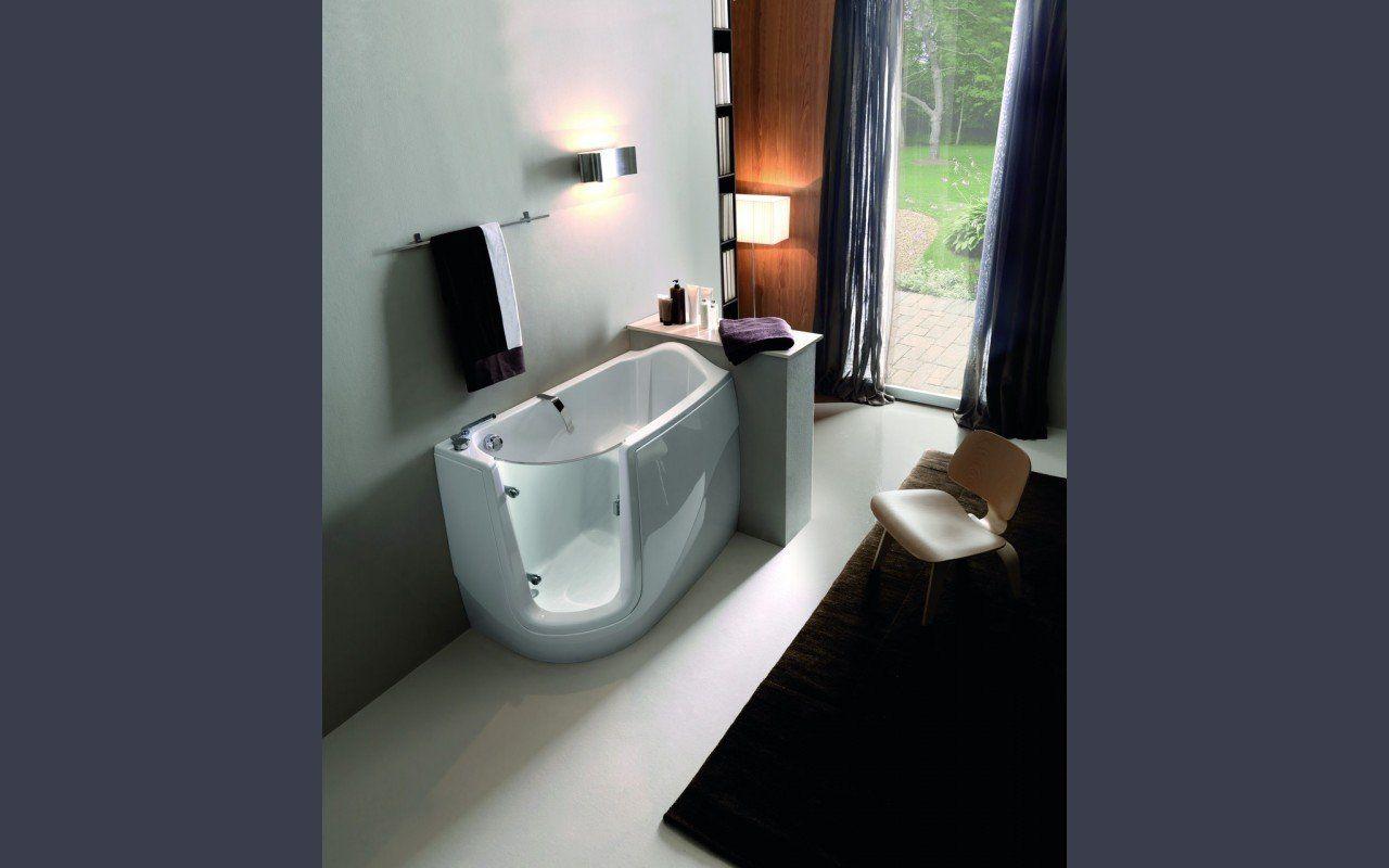 Aquatica Baby Boomer L™ Corner Soaking Walk In Bathtub