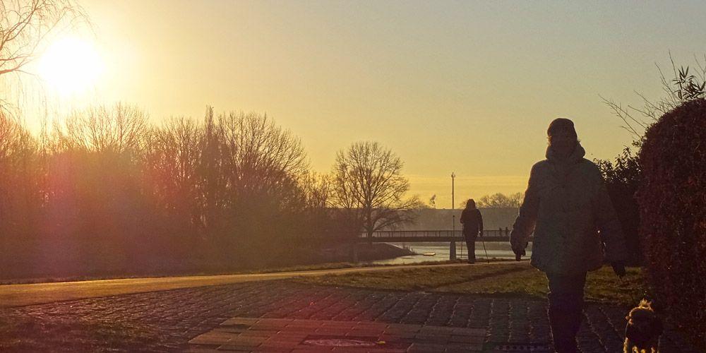 Der Werdersee an einem kalten Januar-Morgen. http://www.bremen-tourismus.de/stadtwerder