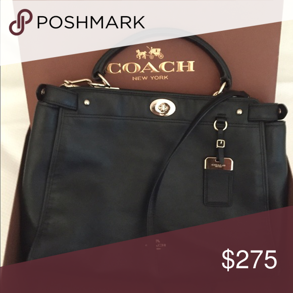 Coach bag Black coach bag 2 years old rarely used. Originally $500 asking $250.00 Coach Bags Shoulder Bags