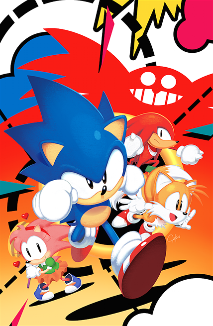 Sonic Mega Drive 1 Cover by