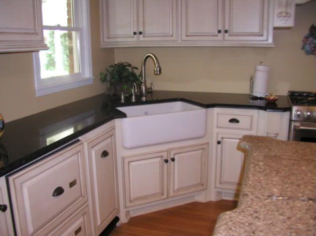 Farmhouse Sink In 2019 Corner Sink Kitchen Dark Kitchen