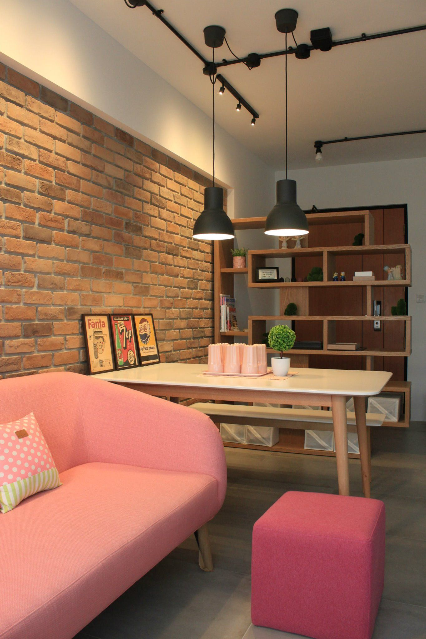 Small Condo Living Room Design: 4 Room BTO - Living Room - Pink Is New.