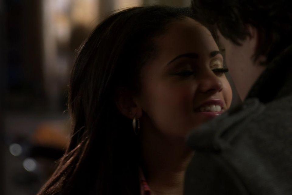Joe Dinicol And Vanessa Morgan Kissing