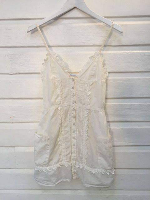 3eb26024afa861 Sass And Bide Off White Lace Trim Vintage Style Top http   www.