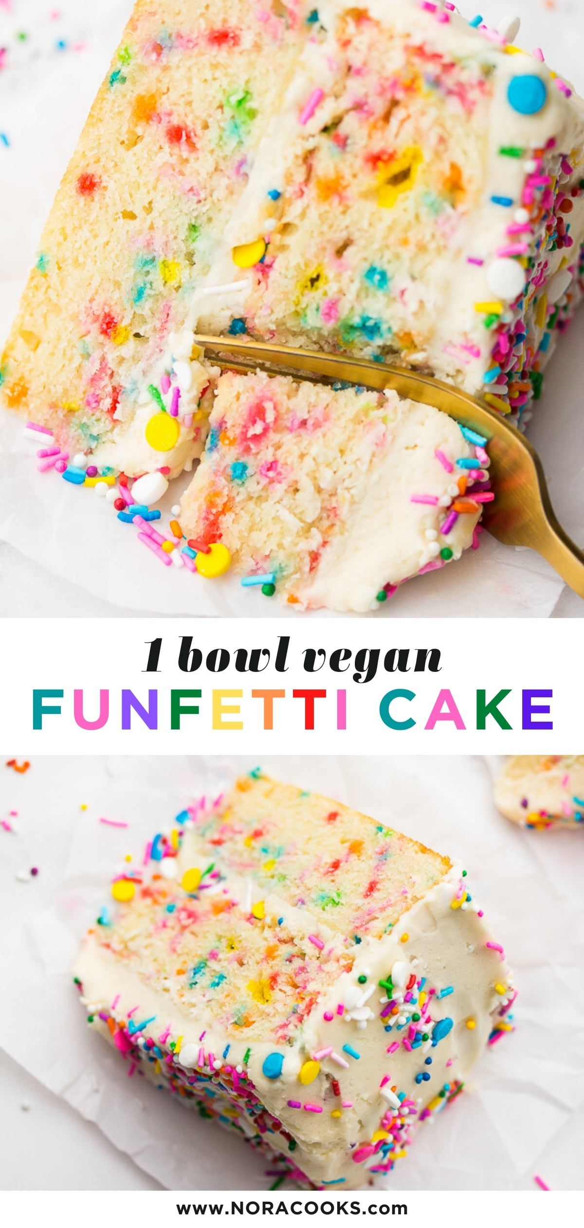 Vegan Funfetti Cake
