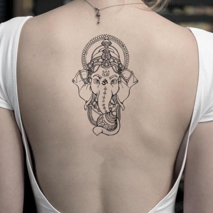 Ganesha Temporary Tattoo Sticker (Set of 2)