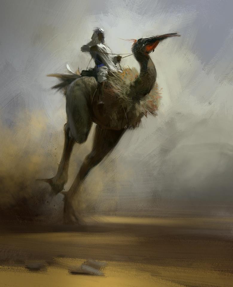 warrior on bird mount