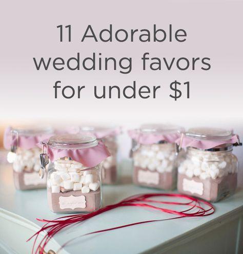 11 Adorable Wedding Favors for Under a Dollar | Recuerdos boda ...