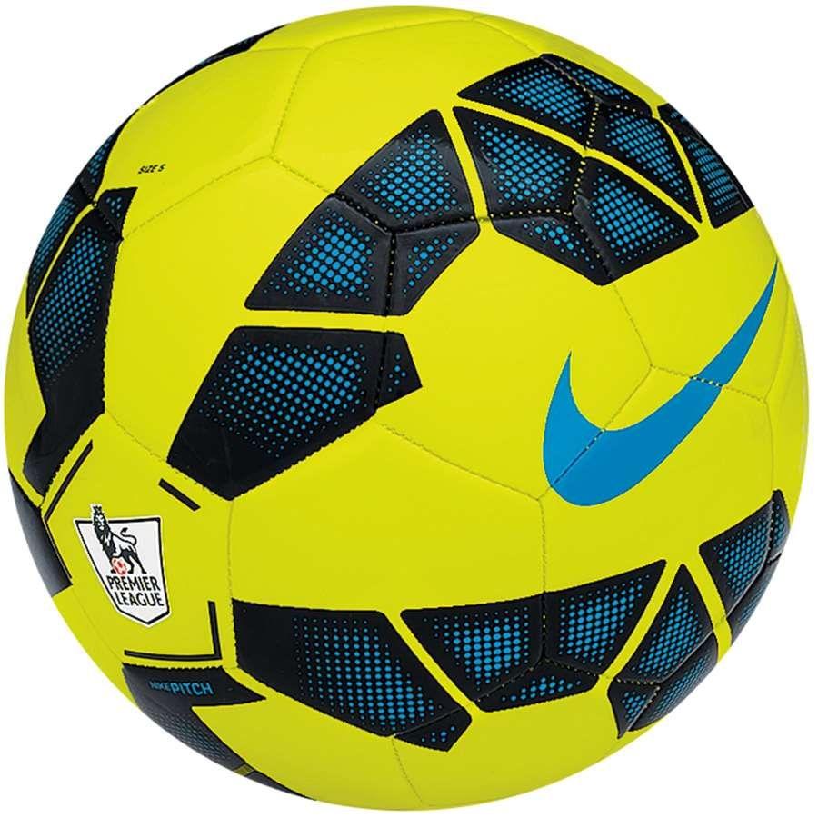 Bola Nike Pitch EPL Campo Amarela Limão | Soccer ball ...