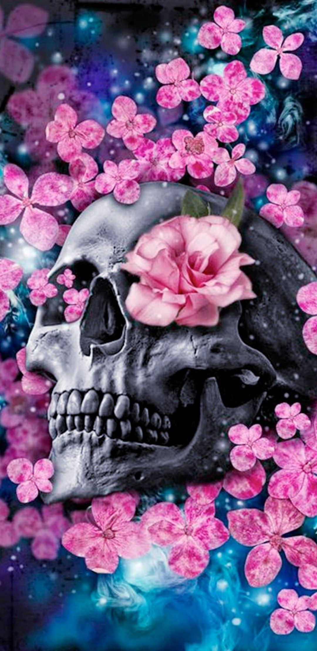Pretty Skull Wallpaper Skull Art Sugar Skull Art