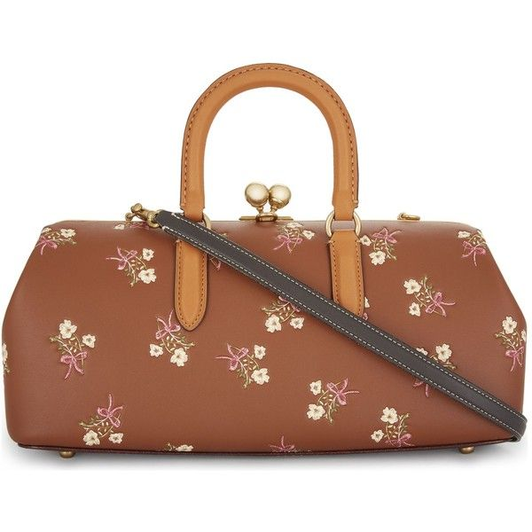 Coach Floral Print Kisslock Satchel 970 Liked On Polyvore
