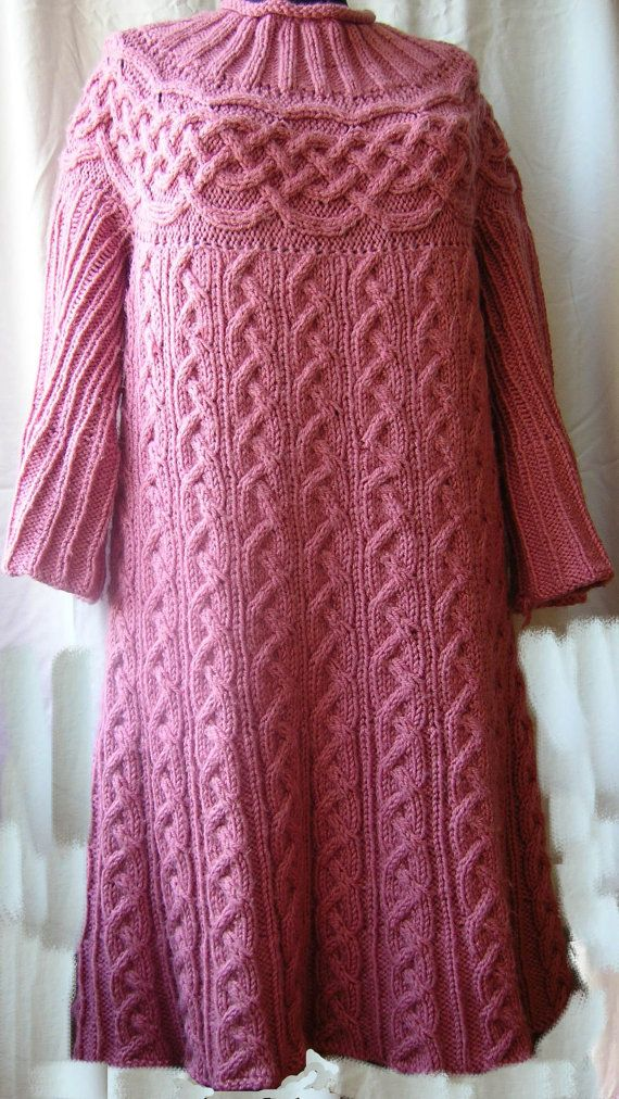 This is a listing for the Dreaming in pink Sweater Dress with Cables and yoke digital PATTERN, not for the physical item.    I love knitting almost