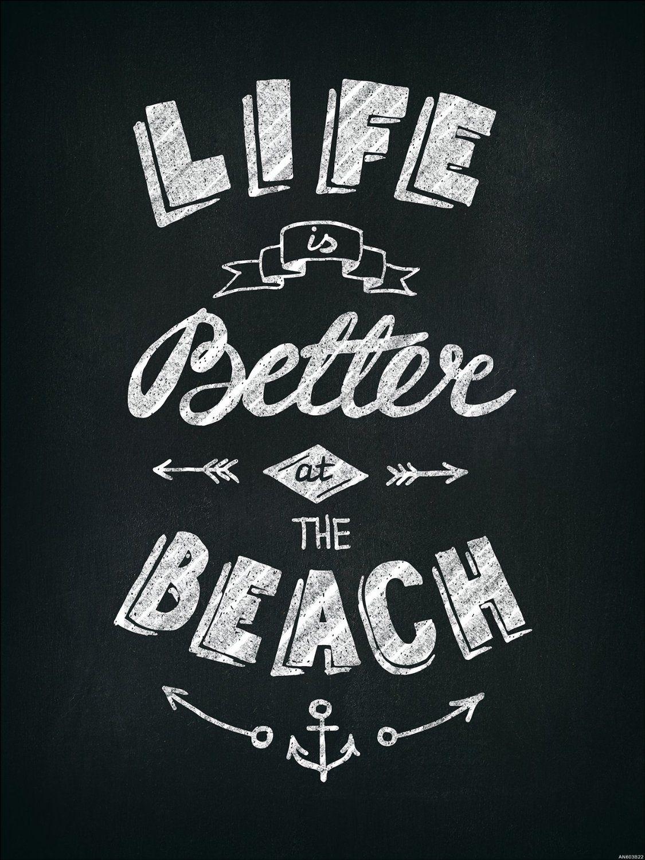 Pro Art An603b22 Wandbild Decopanel Life Is Better At The Beach