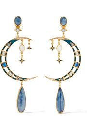 Percossi Papi Gold-plated multi-stone earrings