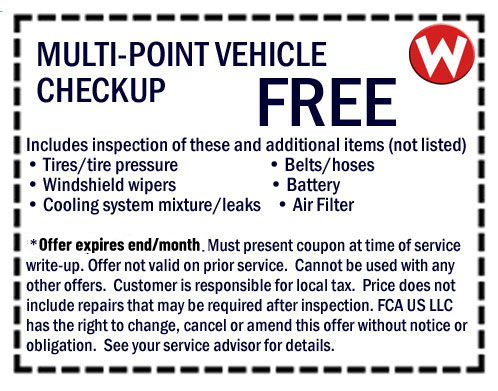 Chrysler, Dodge, Jeep, RAM Service Specials & Coupons, Oil
