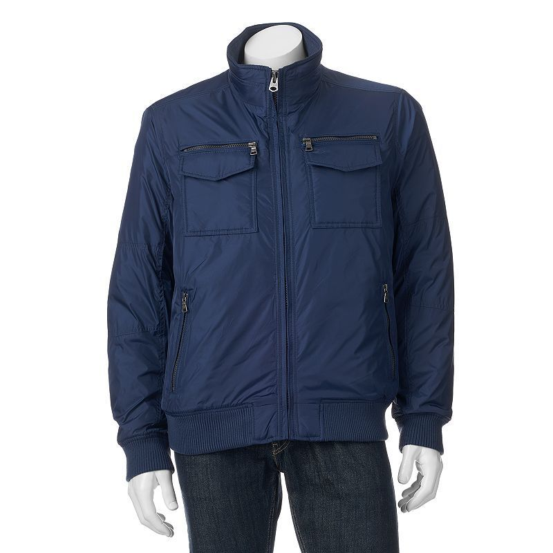 Men's Dockers Performance Bomber Jacket, Size: Small, Brt Blue