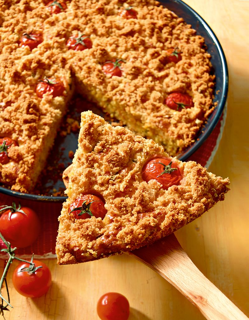 Herzhafter Kuchen Mit Kase Und Tomaten Als Unkomplizierter Snack Fur