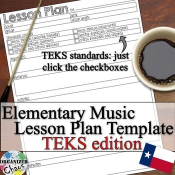 This Lesson Plan Template Is For K 5 General Music Classes And Is