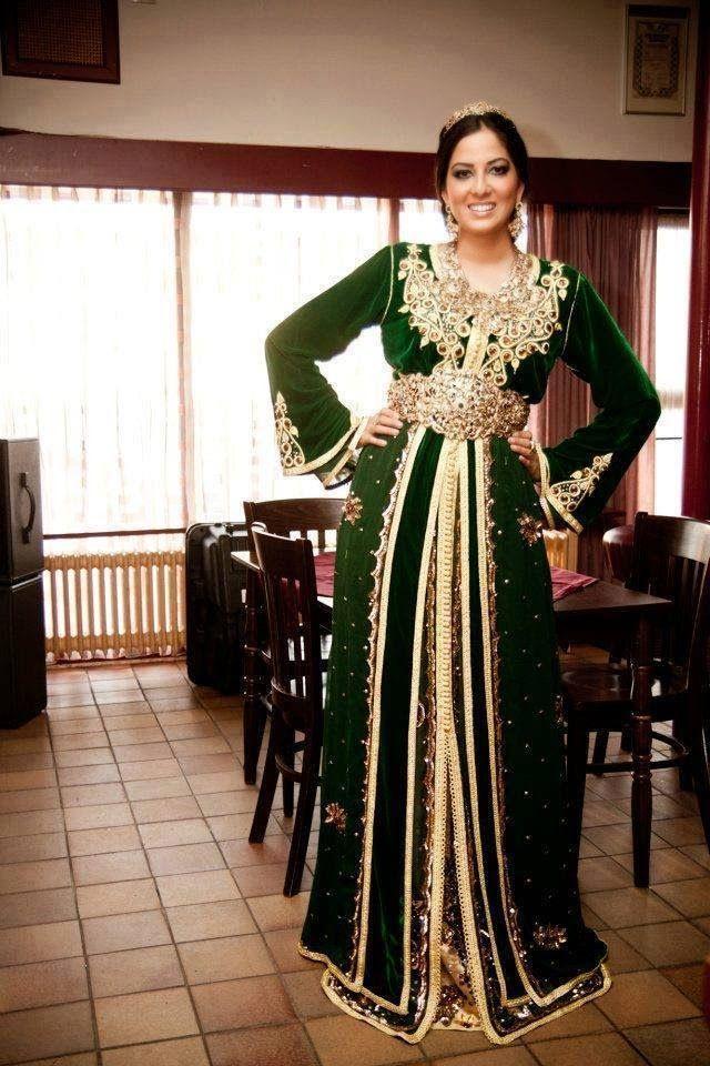 En Vert, Caftan Marocain, Robe Marocaine, Takchita, Caftan Moderne, Mode  Femme, Mode Hijab, Nuit, Autre