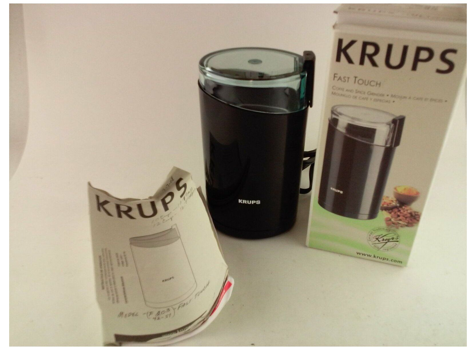 coffee grinder electric stainless steel Krups F203