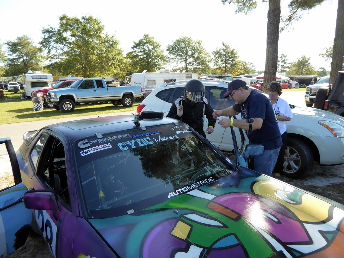 Our CYDC Motorsports BMW3i racecar getting a tech