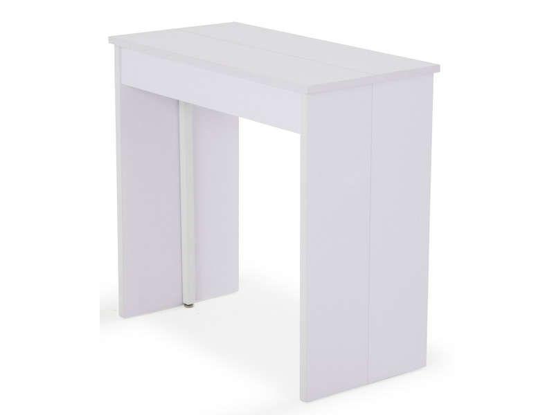 Console extensible + 3 allonges L145 cm max VOLTO coloris blanc