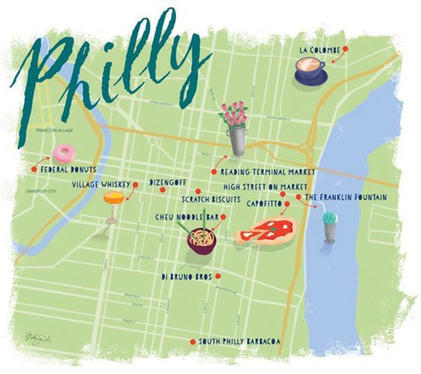 Philly Me Up: A Philadelphia Food Tour (Map by Mary Ann ... on map of temple in philadelphia, map of bars in philadelphia, map of districts in philadelphia, map of colleges in philadelphia, map of towns in philadelphia, map of rivers in philadelphia, map of hospitals in philadelphia, map of airport in philadelphia, map of trains in philadelphia, map of cities in philadelphia, map of museums in philadelphia,