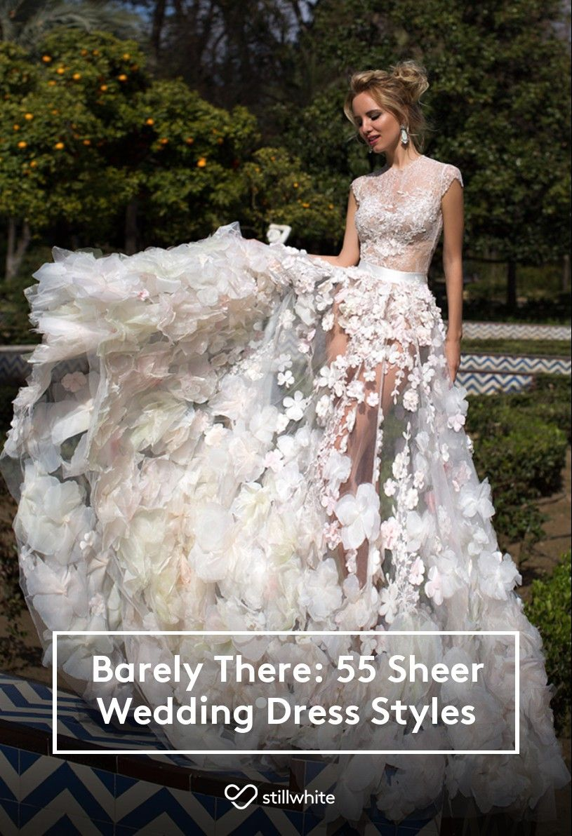 Barely There 55 Sheer Wedding Dress Styles Stillwhite Blog Sheer Wedding Dress Wedding Gown Guide Wedding Dresses [ 1192 x 815 Pixel ]