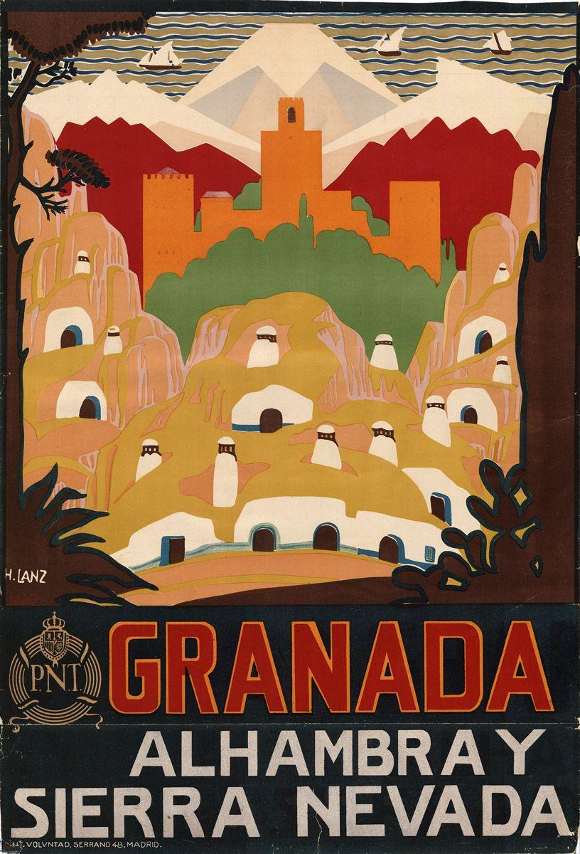 Style rétro vintage Espagne voyage publicité ESPANA signe signe de porte,
