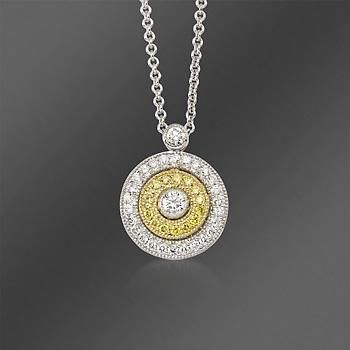 Pin by rellgz on king pharrell pinterest clothing ross simons simon g white and yellow diamond circle pendant necklace in tri colored gold mozeypictures Choice Image