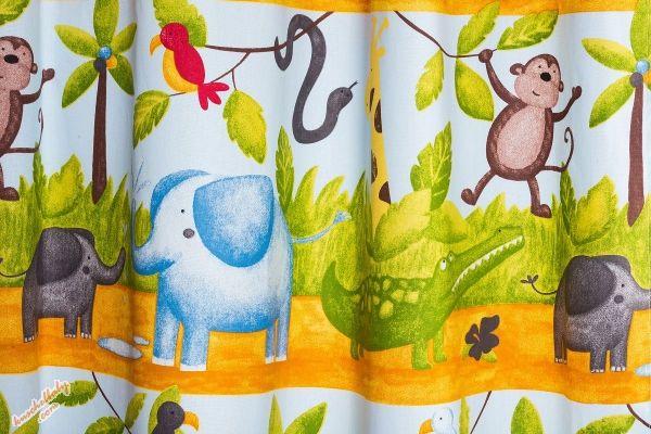 kinderzimmer gardine 'urwald' nach wunschmaß stoff ist
