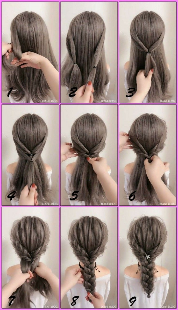1 Create Beach Waves Separate Your Hair Into Three Sections Similar To A Mohawk And Clip Each Sec Braided Hairstyles Tutorials Easy Hair Styles French Braid