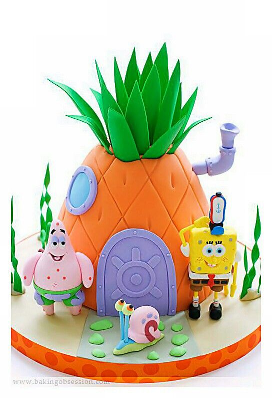 Amazing Crazy Tasty Artistic Sponge Bob And Pinapple House