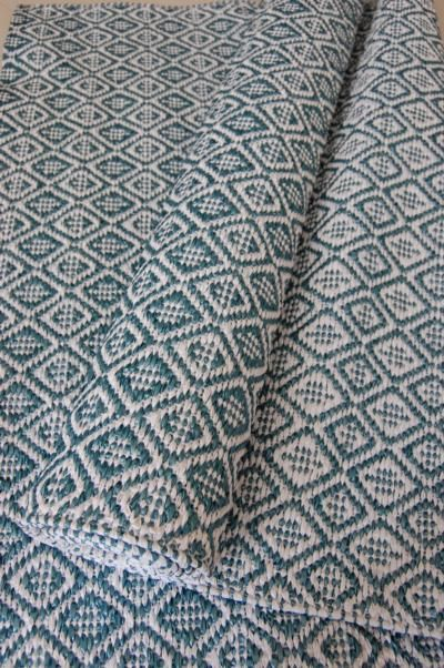 Plastic Woven Rug In Swedish Traditional Pattern