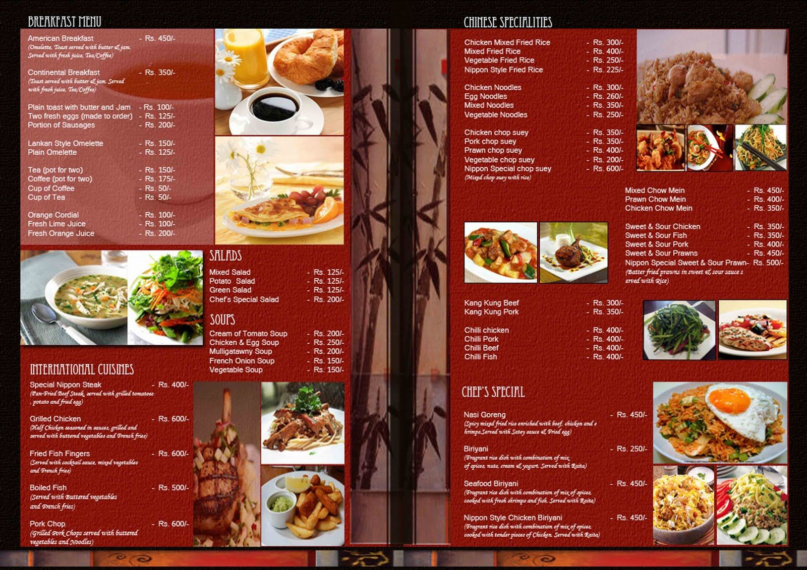 Oriental Restaurant Menu Design Ideas Restaurant Menu Design That