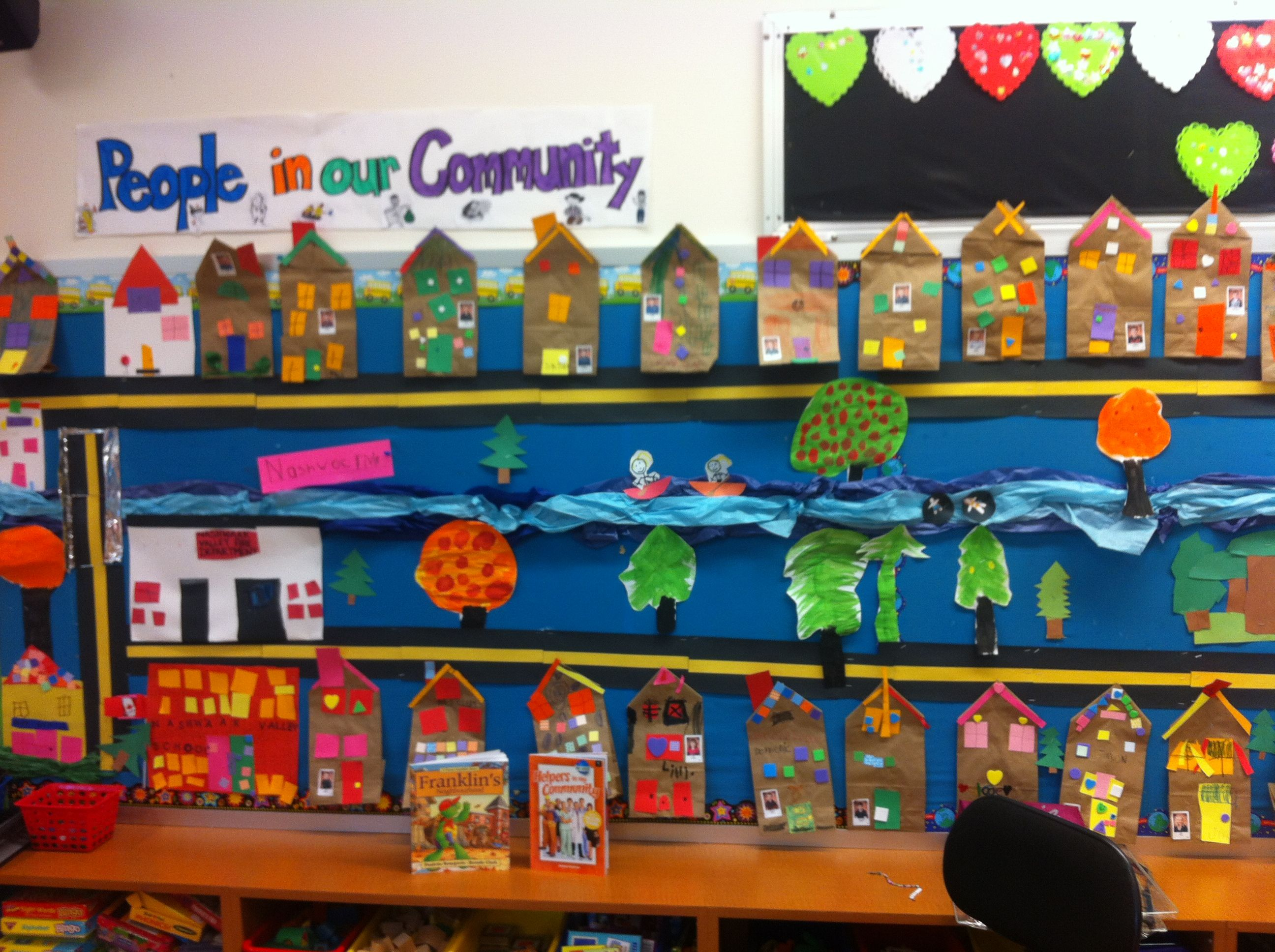Our Community Map Each Student Made Their House And Other