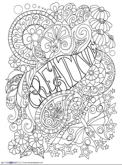 Creative Digital Download Coloring Page 9 9/9 x 99 | Color me Happy ...