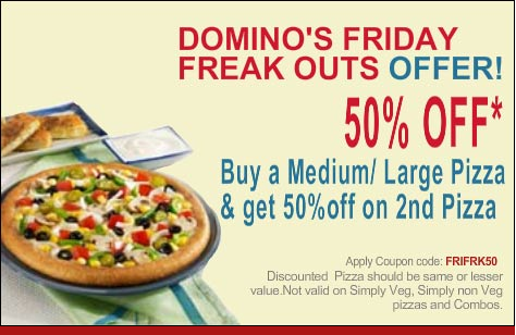 We have listed top trending Dominos Coupons, Promo codes & Offers for Today October 12222: